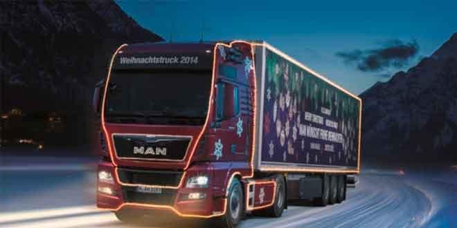 В Баварии колесит рождественский MAN TGX