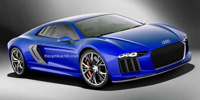 Рендер второго поколения Audi R8