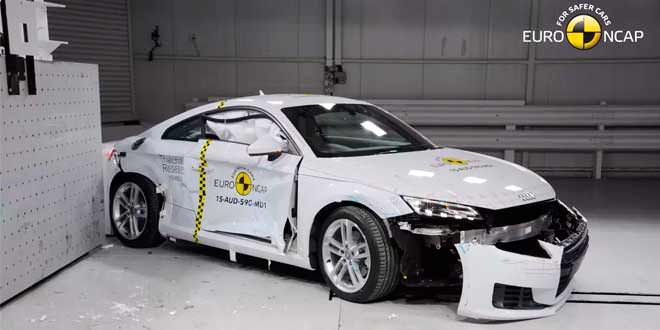 Новая Audi TT набрала 4 звезды в краш-тесте Euro NCAP