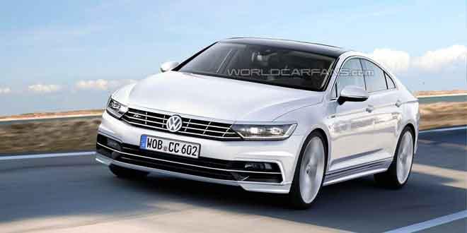 Очередной рендер Volkswagen Passat CC
