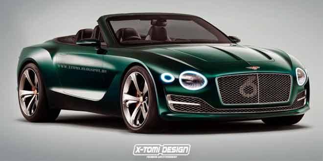 Рендер кабриолета Bentley EXP 10 Speed 6 Convertible