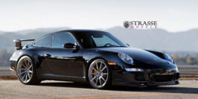 Porsche 911 GT3 позирует на дисках Strasse Wheels