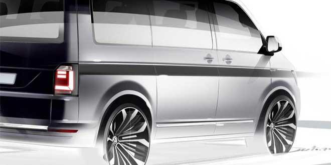 Первый официальный тизер нового VW Transporter