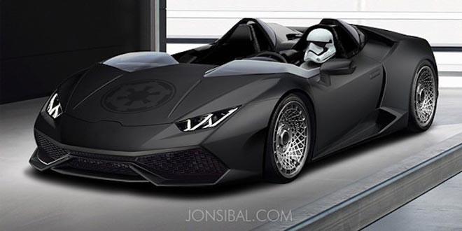 Рендер Lamborghini Huracan Stormtrooper от Джона Сибала