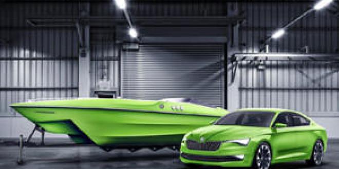 Компания Skoda выпустила спортивный катер в дополнение к концепту VisionC