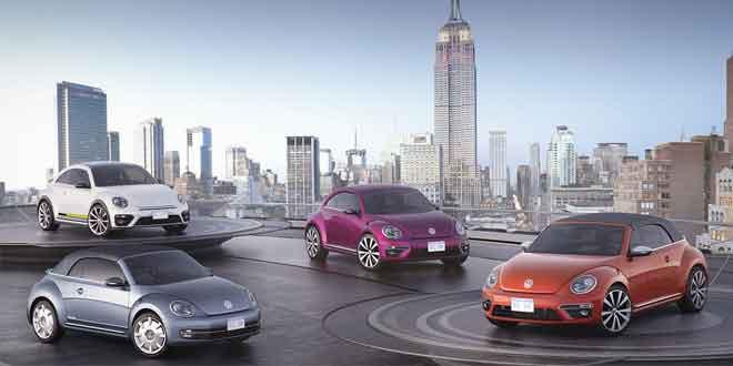 Volkswagen показал в Нью-Йорке четыре особых VW Beetle