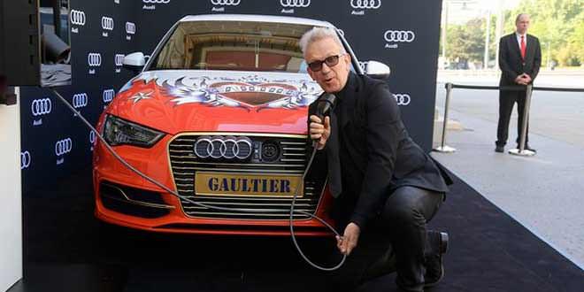 Французский модельер Жан-Поль Готье подготовил особую Audi A3 e-tron