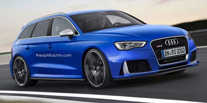 Audi RS3 Avant завершает виртуальное семейство RS3