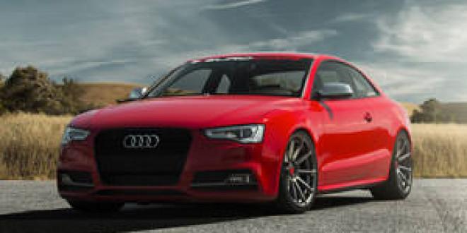 Экстравагантное красное купе Audi S5 на дисках Vorsteiner