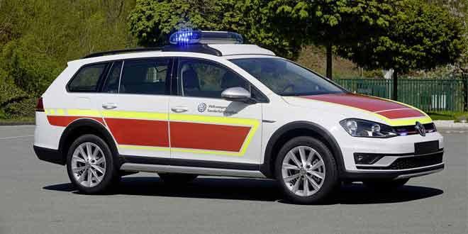 На фестивале RETTmobil покажут Volkswagen Golf Alltrack для аварийной службы