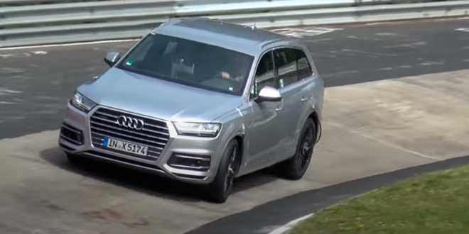 Тестовый прототип Audi SQ7 попал в аварию на Нюрбургринге
