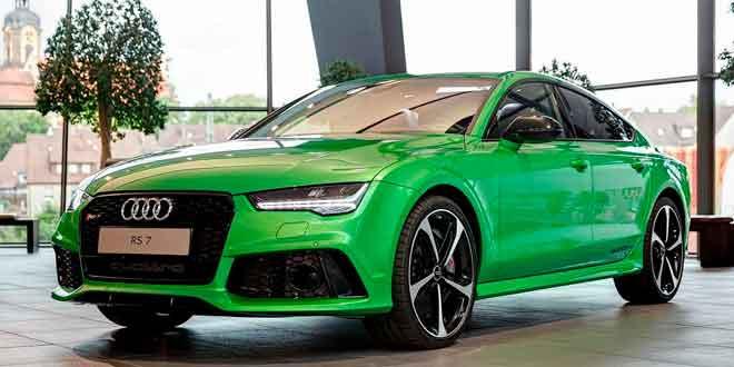 Audi RS7 Sportback в цвете Apple Green Metallic