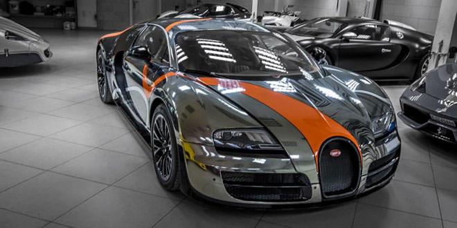 Bugatti Veyron Super Sport в обертке от Sticker City