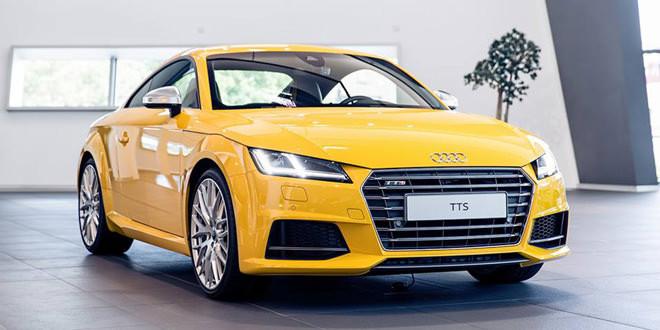Audi TTS цвета Vegas Yellow от Audi Exclusive