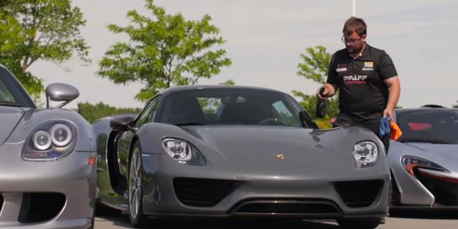 Porsche 918 Spyder, Carrera GT и McLaren P1 доставлены одному покупателю в один день