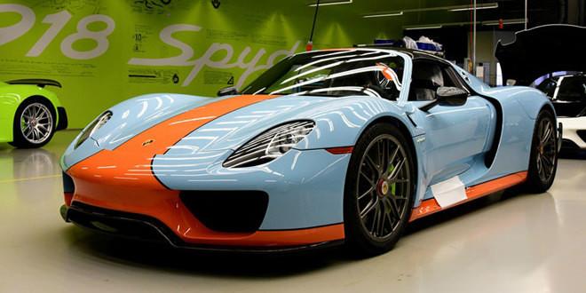 Porsche 918 Spyder получил фирменный Gulf-винил