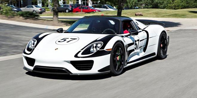 Porsche 918 Spyder в виниле от IND Distribution на дисках HRE Wheels