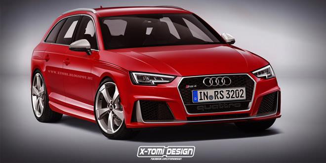 Новую Audi RS4 покажут на Франкфуртском автосалоне в 2017 году