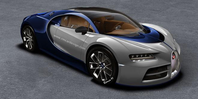 Рендер Bugatti Chiron из концепта Vision Gran Turismo