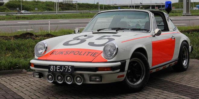 Полицейская Porsche 911 Targa 1974 года выставлена на продажу