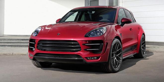Фотосет Porsche Macan URSA в красном насыщенном оттенке
