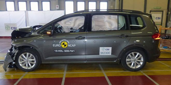 Новый Volkswagen Touran прошёл краш-тесты Euro NCAP на 5 баллов