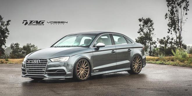 Audi S3 с новыми дисками Vossen и кастомным выхлопом Milltek