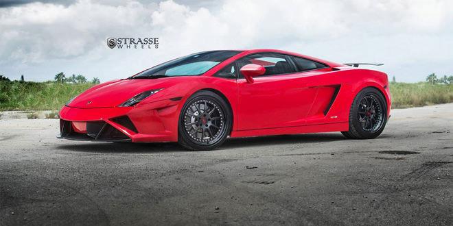 Lamborghini Gallardo на дисках Strasse Wheels