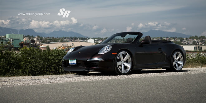 Родстер Porsche 911 Carrera 4 на новых дисках PUR Wheels