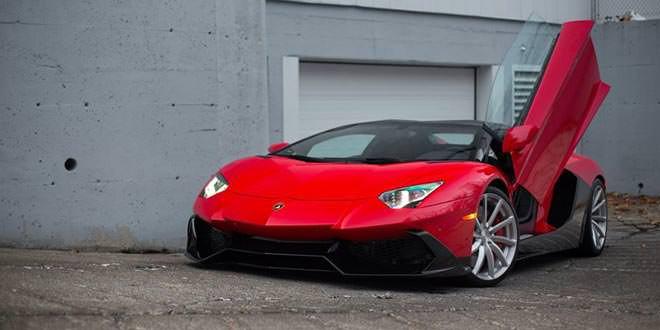 Фото дня: Lamborghini Aventador оттенка Rosso Mars на дисках PUR Wheels