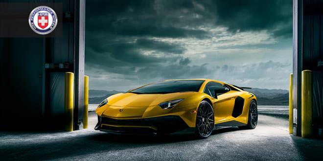 Lamborghini Aventador SV примерил новые диски от HRE Wheels