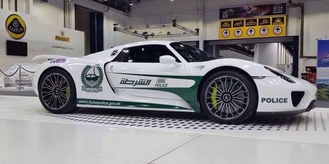 На службу полиции Дубая встал супергибрид Porsche 918 Spyder