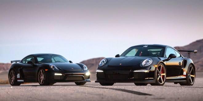 Porsche 991 GT3 RS и Cayman GT4 на дисках Vossen