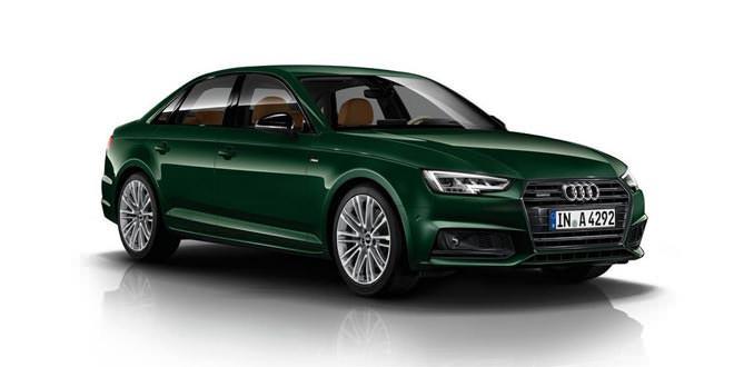 Новая Audi A4 оттенка Goodwood Green от итальянского дилера