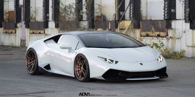 Lamborghini Huracan на матовых бронзовых дисках ADV.1 Wheels