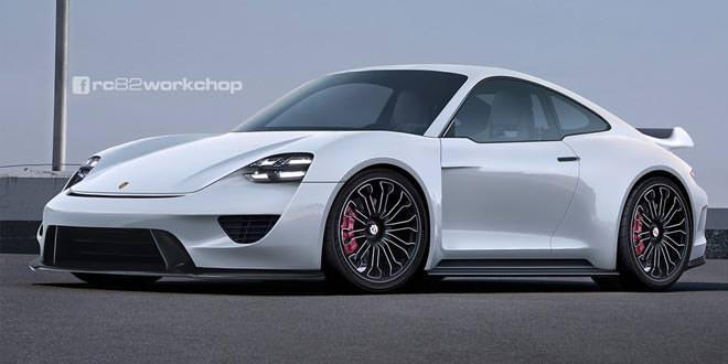 Рендер Porsche 911 в стиле концепта Mission E