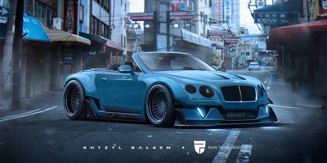 Виртуальный Bentley Continental GT Convertible от Rain Prisk Designs