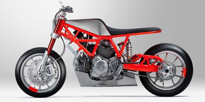 Кастом на базе Ducati Scrambler  для конкурса Custom Rumble
