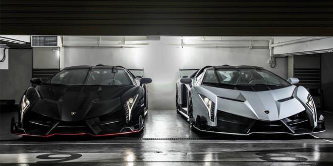 Уникальные фото сразу двух Lamborghini Veneno Roadster