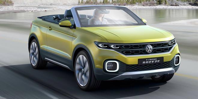 Volkswagen рассекретил концепт вседорожного кабриолета T-Cross Breeze