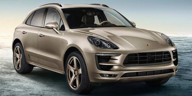 Porsche Macan S Exclusive бежевого цвета