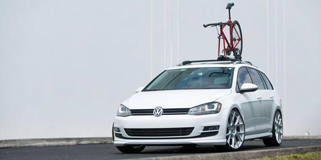 Volkswagen Golf SportWagen на дисках Vossen (55 фото)