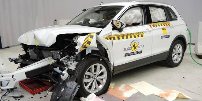 Кроссовер Volkswagen Tiguan прошёл краш-тест Euro NCAP на 5 звёзд