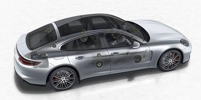 Новая Porsche Panamera получила аудиосистему Burmester 3D