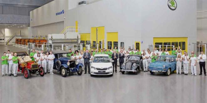 Skoda выпустила 19-миллионный автомобиль на заводе в Чехии