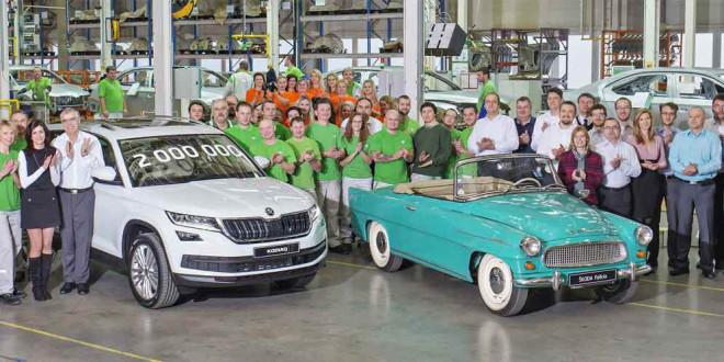 Завод Skoda в Чехии выпустил 2-миллионный автомобиль