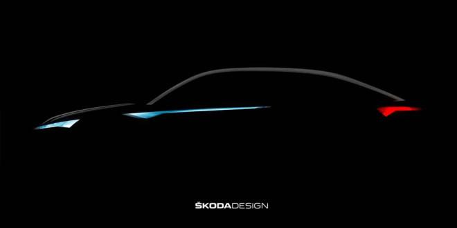 Первый тизер Skoda VisionE: превью серийного Kodiaq Coupe