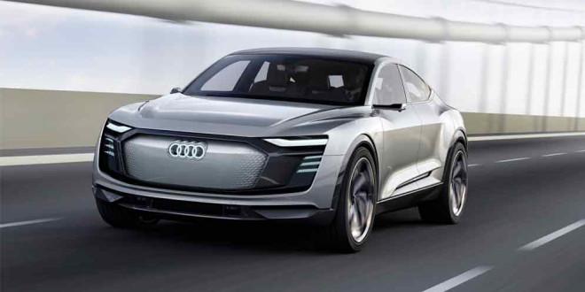 Электрический прототип Audi E-Tron Sportback прибыл в Шанхай