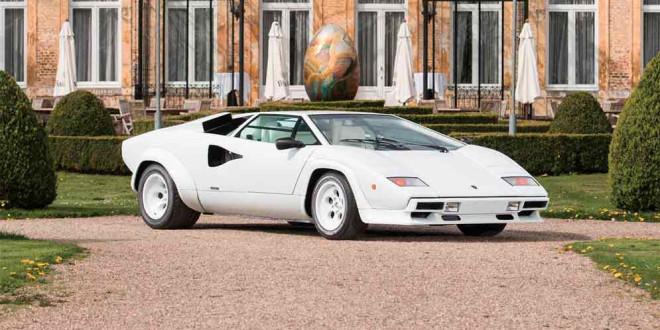 Позолоченный Lamborghini Countach 1987 г. продадут на торгах