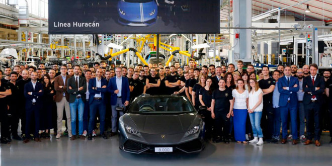 Завод Lamborghini в Италии собрал 8 000-й Huracan
